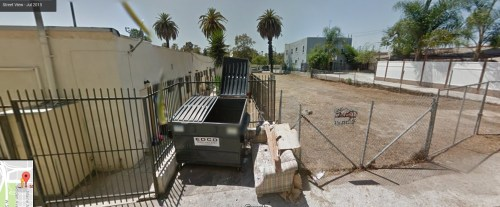 Mystery solved! The Google Map street view of what is directly outside of the glamorous listing--current housing market research. The couch is probably gone...
