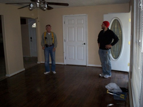 Dear Rodney: I still say you did not have to take off your boots for the last house tour after refinishing the floors! We obviously lost this argument with him.