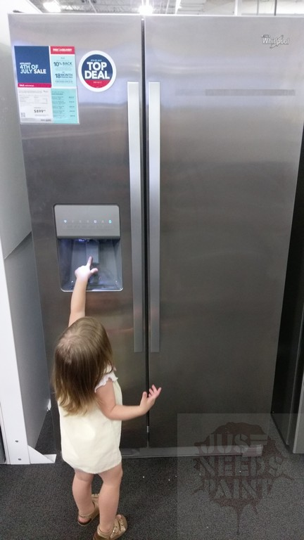 Little Hands On The Refrigerator Water Dispenser Can Turn A Kitchen Into A  Pool!
