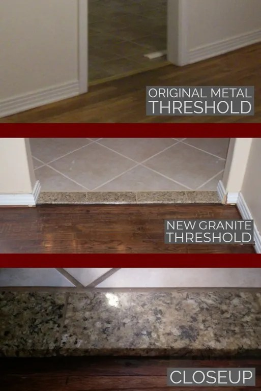 How To Diy A Natural Stone Interior Door Threshold Just