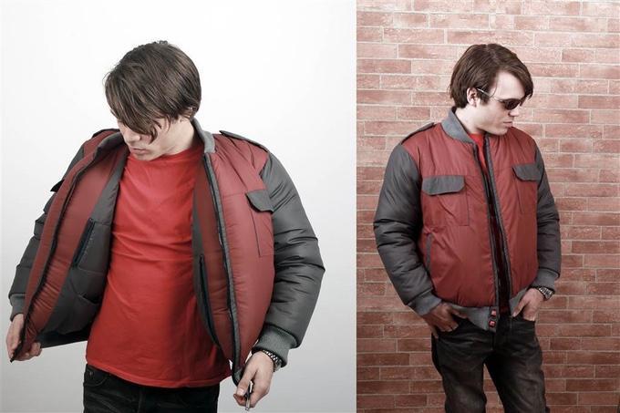 giacca ad asciugatura rapida ritorno al futuro kickstarter