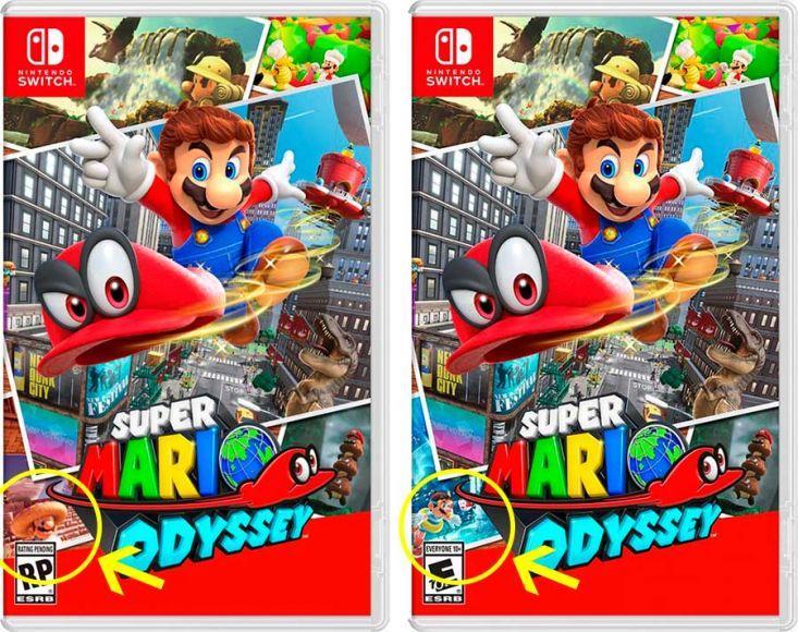 La box art di Super Mario Odyssey è stata modificata