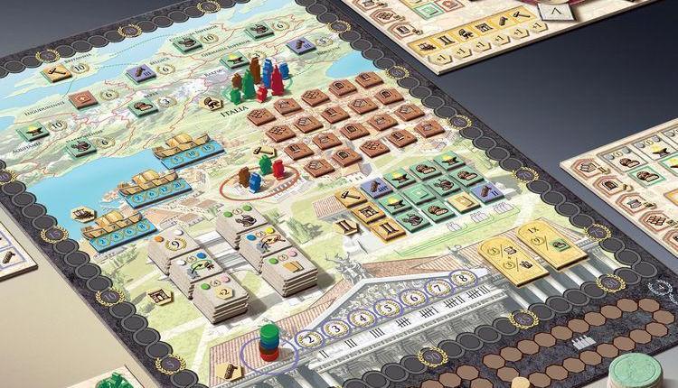 Trajan: Renegade Games annuncia la ristampa del premiato gioco ambientato all'epoca dei Romani