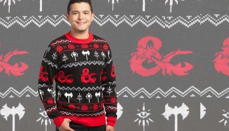 Disponibile il (brutto) maglione natalizio a tema Dungeons and Dragons ufficiale per tutti i giocatori!