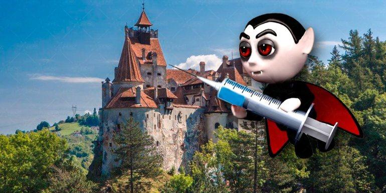 vaccino covid 19 nel castello di dracula