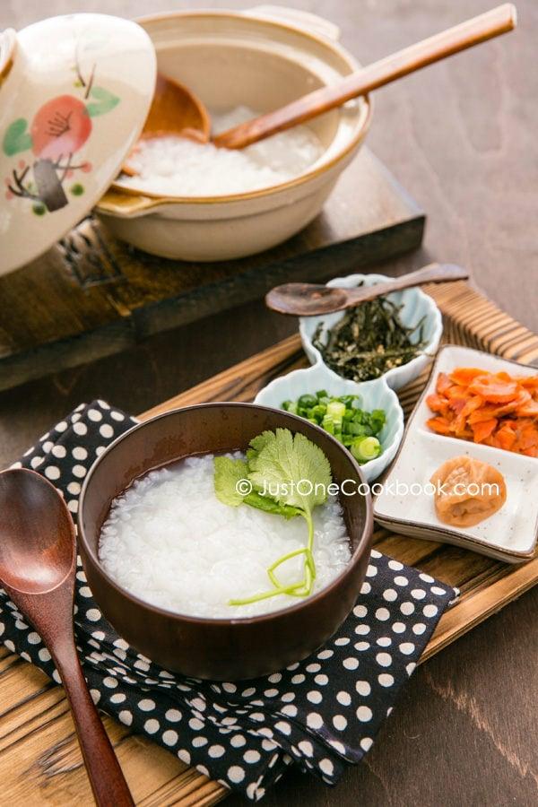 Rice Porridge Recipe Okayu   Just One Cookbook