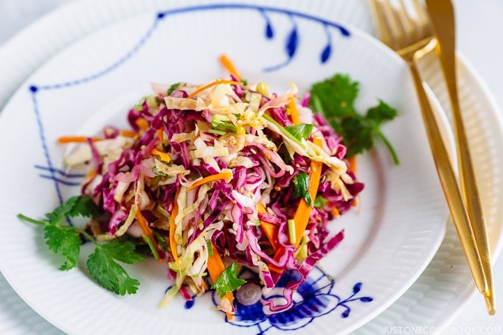 Asian Coleslaw With Sesame Dressing Just One Cookbook