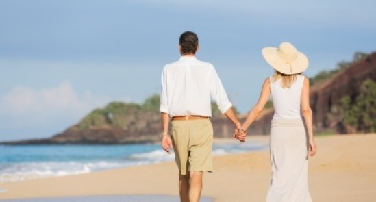 Walking on the beach in retirement