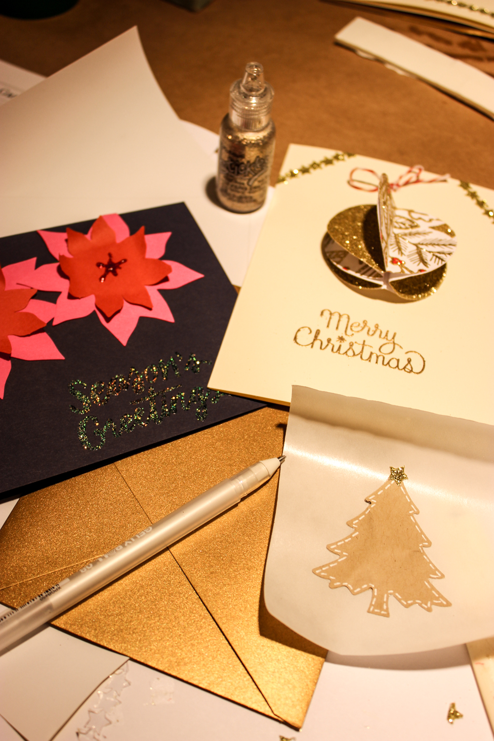 Paper Source Holiday Card Workshop | just peachy blog