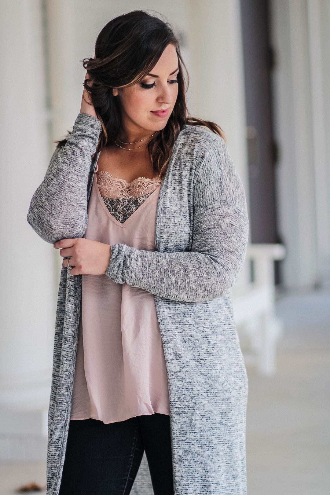 Duster Sweater Outfit | Just Peachy Blog