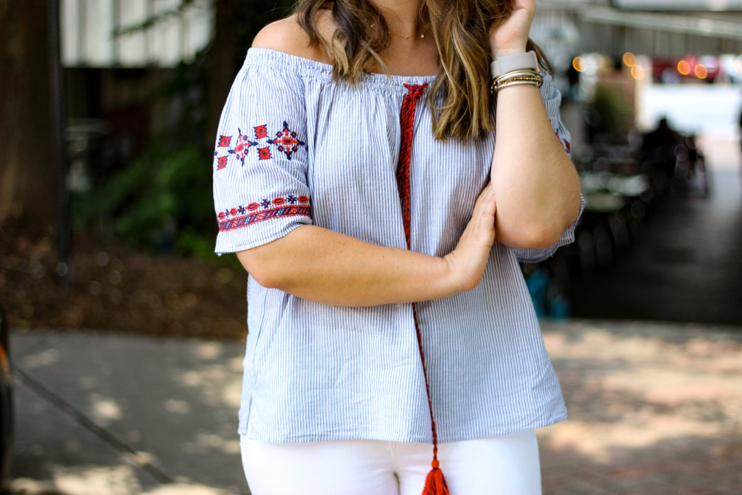 Off the Shoulder Outfit | Just Peachy Blog