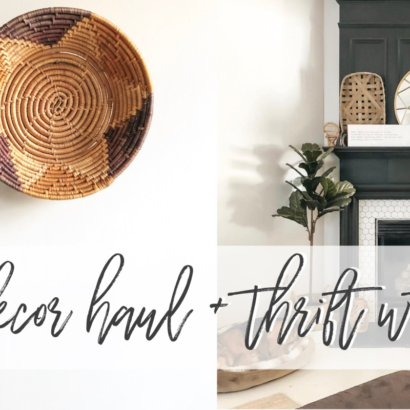 Thrifted Home Decor Haul | Just Peachy Blog