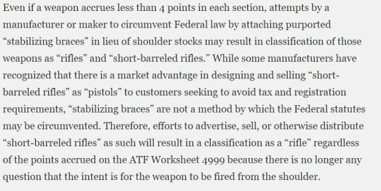 ATF Pistol Brace Opinion Statement