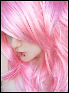 PRETTY PASTEL PINK HAIR ON MODEL