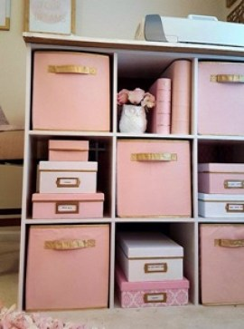 cubicle storage with fabric bins