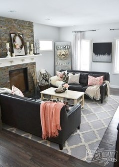 blush and gray room