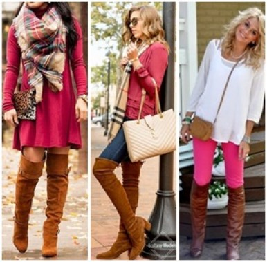 pink and brown outfit