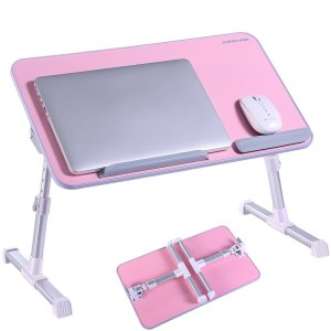 Pink Portable Laptop Table Stand Desk