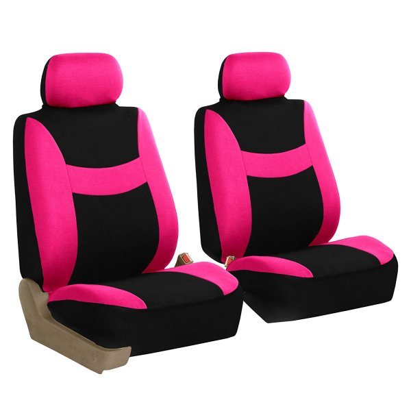 Pink Black Light & Breezy Cloth Seat Cover Bundle