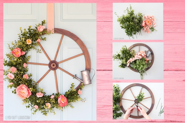 13 Gorgeous DIY Pink Spring Wreath Tutorials