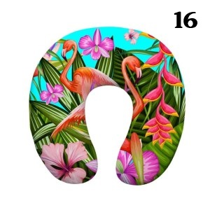 Pink Flamingo Print U Shape Neck Pillow Just Pink About It