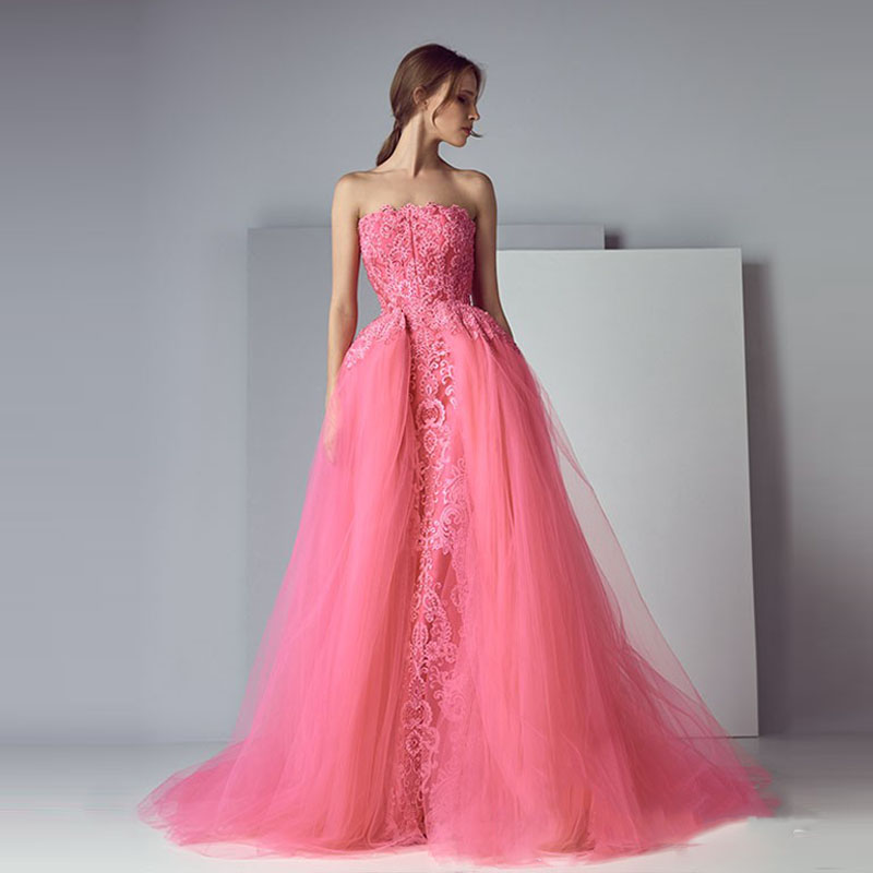 Haute Couture Off Shoulder Pink Prom Gown - Just Pink About It