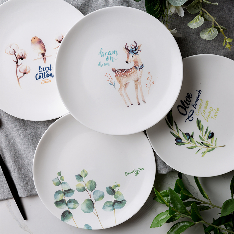 Pink Flamingo Porcelain Ceramic Dinner Plates. $21.99 & Pink Flamingo Porcelain Ceramic Dinner Plates - Just Pink About It
