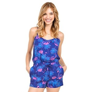 Women's Cute Flamingo Print Romper