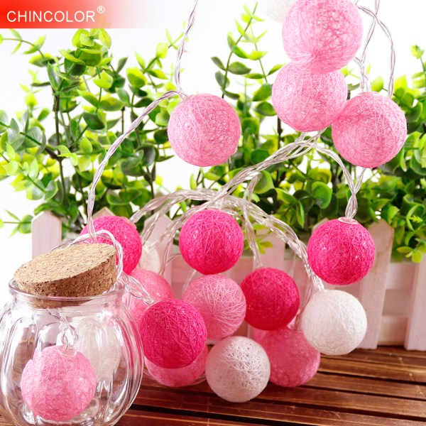 Pink Ball LED String Decorative Lights