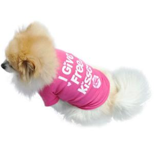 Cute Pink Summer Small Pet Shirt
