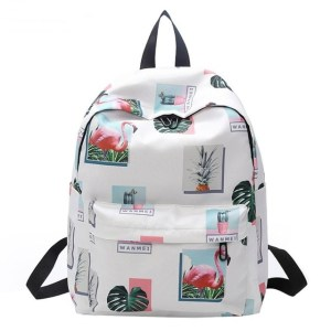 Pink Flamingo Design Fashion Backpack