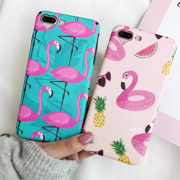 Cute Pink Flamingo Print iPhone Cases