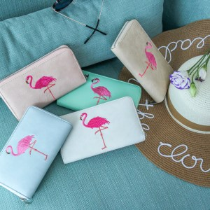 Women's Flamingo Design Leather Wallet
