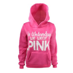 On Wednesdays We Wear Pink Women's Hoodie