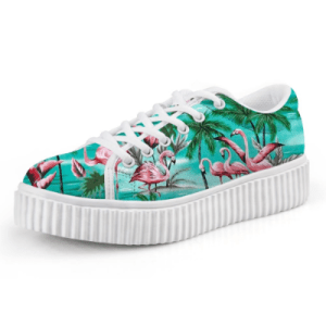 Women's Flamingo Print Casual Sneakers