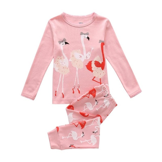 b4bb2355a Girl s Lovely Flamingo Print Pajama Set - Just Pink About It