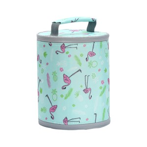 Flamingo Print Thermal Insulated Lunch Bag
