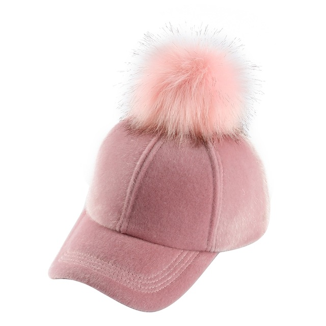 79a50d468f93a Women s Pink Pom Pom Baseball Hat - Just Pink About It