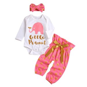 Baby Girl Little Peanut Pink Outfit
