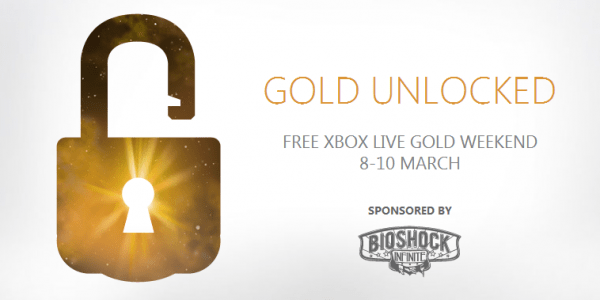 Xbox LIVE Gold Is Free Next Weekend