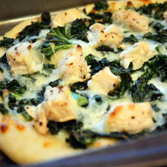 Kale and Lemon-Pepper Chicken Pizza