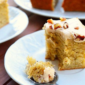 Banana Cake with Brown Butter Maple Frosting