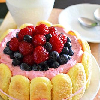 Raspberry Cream Cake…and a Giveaway!