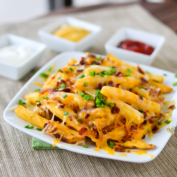 Image result for bacon cheese fries