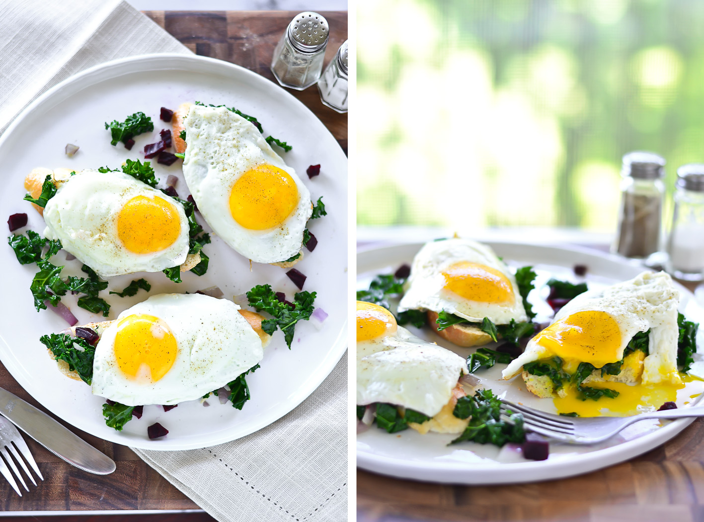 Kale Toast Collage