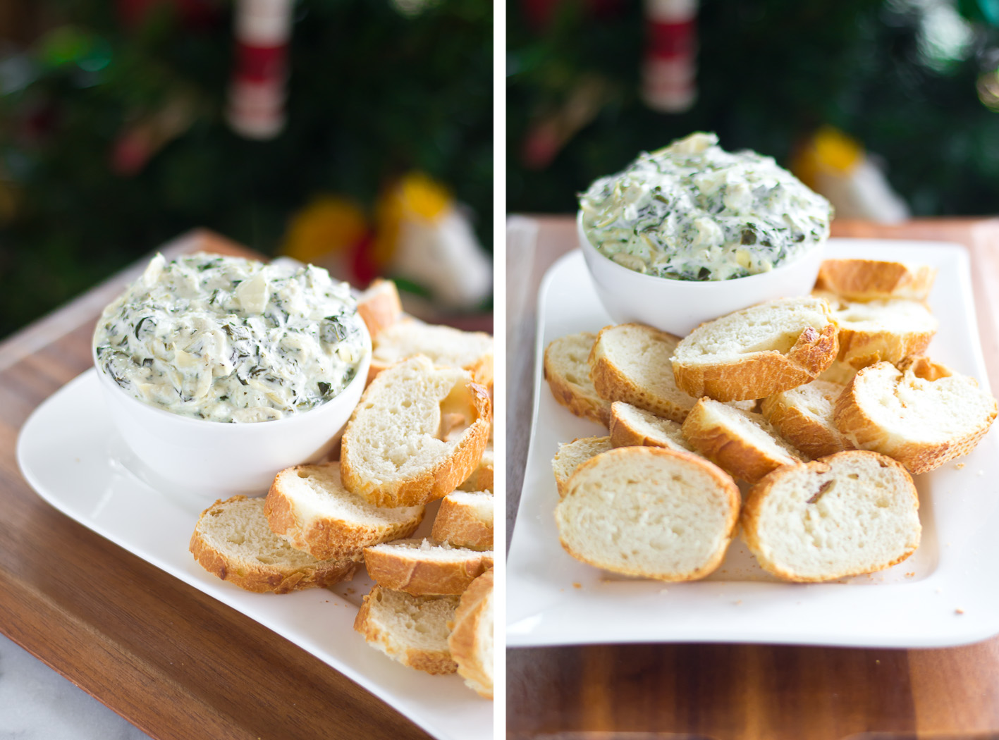 Spinach Artichoke Dip Collage