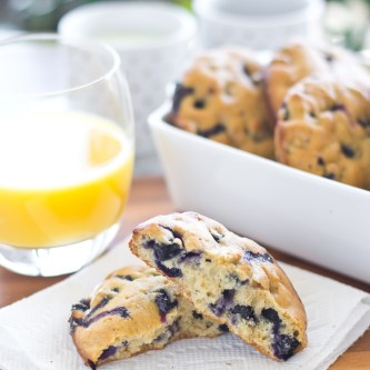 Sunday Brunch: Lemon Blueberry Muffin Tops