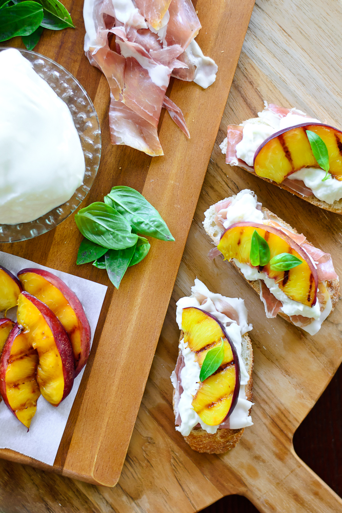 Grilled Nectarine Toasts 9