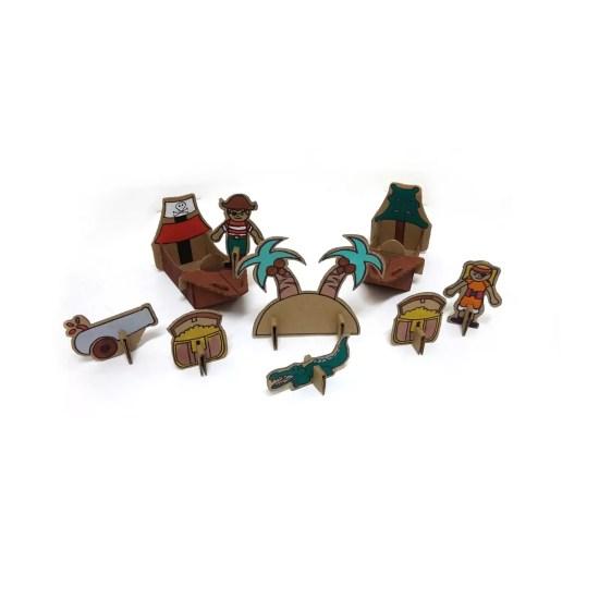 Brinquedos sustentáveis de papelão - Eu Amo Papelão