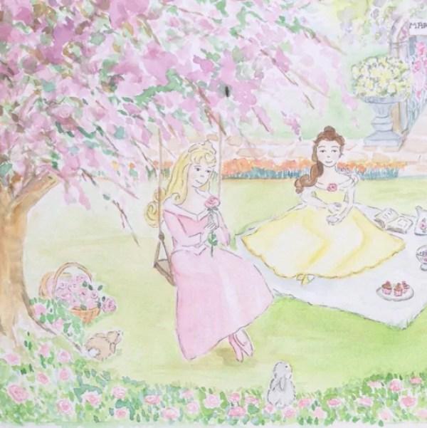 Ideias criativas para painel de festa de aniversário - Painel com pintura de aquarela